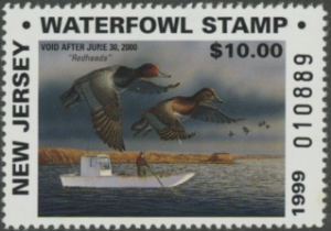Scan of 1999 New Jersey Non-resident Duck Stamp