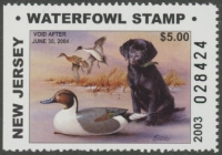 Scan of 2003 New Jersey Resident Duck Stamp