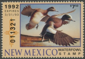 Scan of 1992 New Mexico Duck Stamp