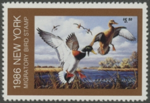 Scan of 1986 New York Duck Stamp
