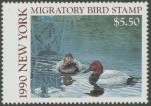 Scan of 1990 New York Duck Stamp
