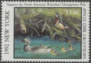 Scan of 1992 New York Duck Stamp