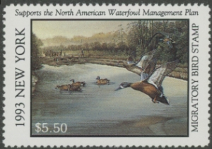 Scan of 1993 New York Duck Stamp