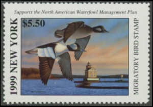 Scan of 1999 New York Duck Stamp