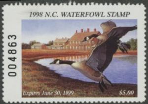 Scan of 1998 North Carolina Duck Stamp