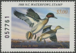 Scan of 1988 North Carolina Duck Stamp