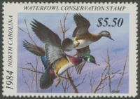Scan of 1984 North Carolina Duck Stamp