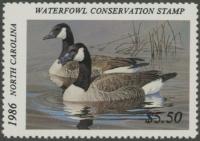 Scan of 1986 North Carolina Duck Stamp