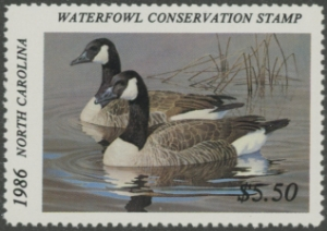 Scan of 1986 North Carolina Duck Stamp