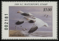 Scan of 1989 North Carolina Duck Stamp