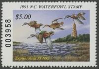 Scan of 1991 North Carolina Duck Stamp