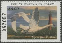 Scan of 1993 North Carolina Duck Stamp