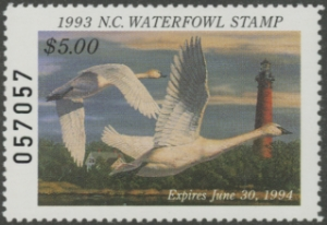 Scan of 1993 North Carolina Duck Stamp