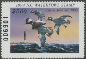 Scan of 1994 North Carolina Duck Stamp