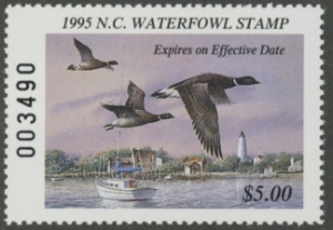 Scan of 1995 North Carolina Duck Stamp