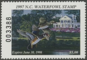 Scan of 1997 North Carolina Duck Stamp