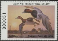Scan of 2000 North Carolina Duck Stamp