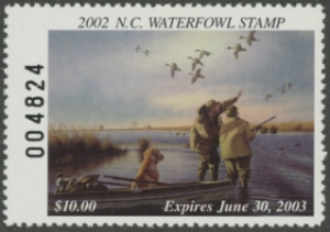 Scan of 2002 North Carolina Duck Stamp