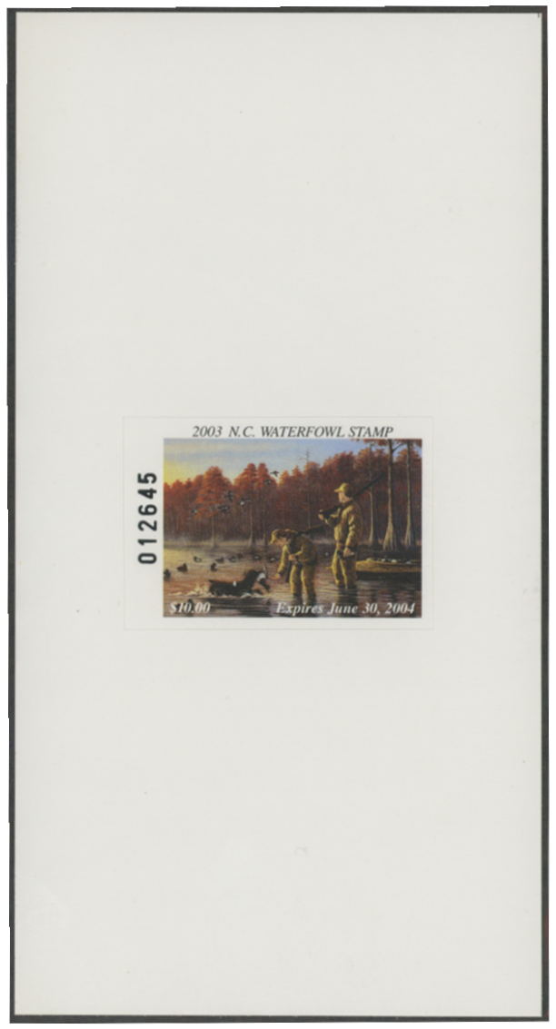 Scan of 2003 North Carolina Duck Stamp