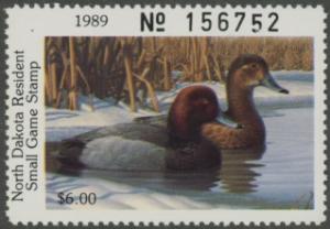 Scan of 1989 North Dakota Duck Stamp