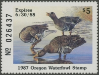 Scan of 1987 Oregon Duck Stamp