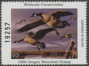 Scan of 1996 Oregon Duck Stamp