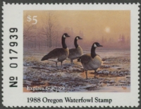 Scan of 1985 Oregon Duck Stamp