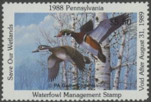 Scan of 1988 Pennsylvania Duck Stamp