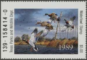 Scan of 1989 Texas Duck Stamp