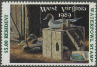 Scan of 1989 West Virginia Duck Stamp