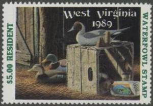 Scan of 1989 West Virginia Duck Stamp