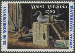 Scan of 1989 West Virginia NR Duck Stamp