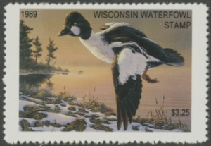 Scan of 1989 Wisconsin Duck Stamp