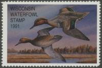 Scan of 1991 Wisconsin Duck Stamp
