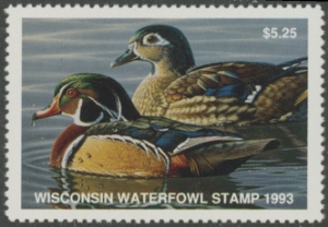 Scan of 1993 Wisconsin Duck Stamp