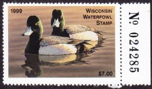 Scan of 1999 Wisconsin Duck Stamp
