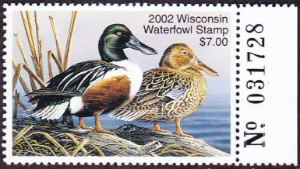 Scan of 2002 Wisconsin Duck Stamp