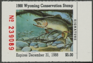 Scan of 1988 Wyoming Duck Stamp