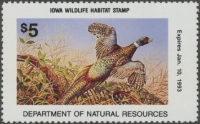 Scan of 1992 Iowa Wildlife Habitat Stamp