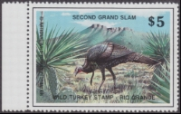 Scan of Second Grand Slam Wild Turkey Stamp