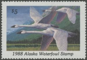 Scan of 1988 Alaska Duck Stamp