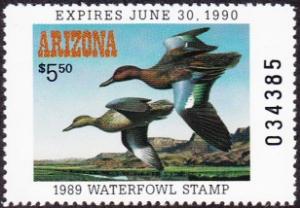 Scan of 1989 Arizona Duck Stamp