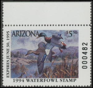 Scan of 1994 Arizona Duck Stamp