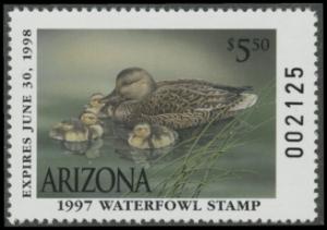 Scan of 1997 Arizona Duck Stamp