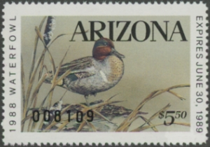 Scan of 1988 Arizona Duck Stamp