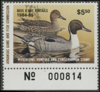 Scan of 1984 Arkansas Duck Stamp