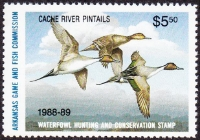 Scan of 1988 Arkansas Duck Stamp
