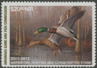 Scan of 2011 Arkansas Duck Stamp NR