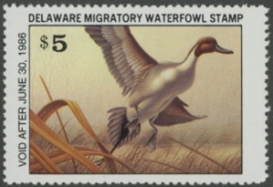 Scan of 1985 Delaware Duck Stamp
