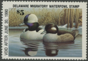 Scan of 1989 Delaware Duck Stamp